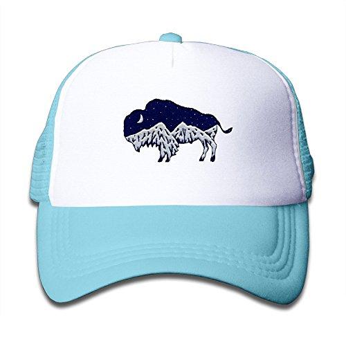 My Bison Mountain Logo Kid's Best Sun Hats Mesh Caps SkyBlue