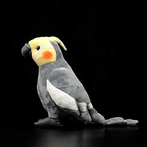 changshuo Stofftier 18cm Echtes Leben Grauer Nymphensittich Plüschtier Mini Extra Gefüllte Vögel Tier Spielzeug Geschenke Für Kinder