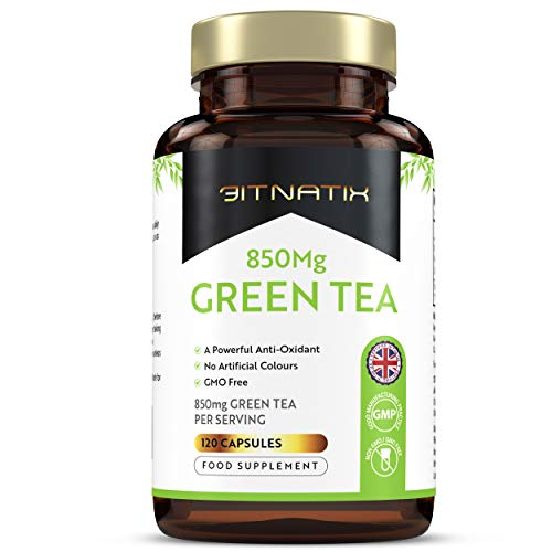 Green Tea with Extract |120 Capsules | 4 Month Supply | Powerful Antioxidant Formula | Potential Weight Loss | No Artificial Colours |GMP Approved | GMO Free - Made in UK by Fitnatix