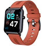 DOOK Smart Watch, Fitness Tracker Watch with Heart Rate Monitor, 1.4 Inches High-End Activity Tracker IP68 Waterproof for Women Man, Sport Fitness Watch Compatible with iOS and Android Orange
