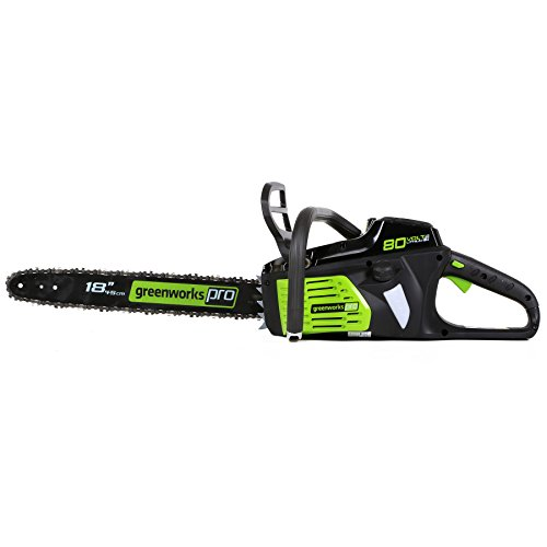 Greenworks PRO 18-Inch 80V Cordless Chainsaw, Battery Not Included GCS80450