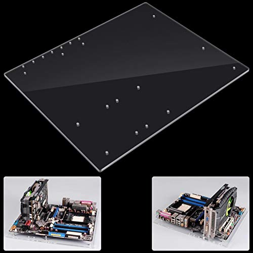 ATX PCオープンフレームテストベンチマザーボードオーバークロックコンピューターケースATXモスボード用DIYModベースシャーシ、ATXマザーバー用4mm透明アクリルフレーム