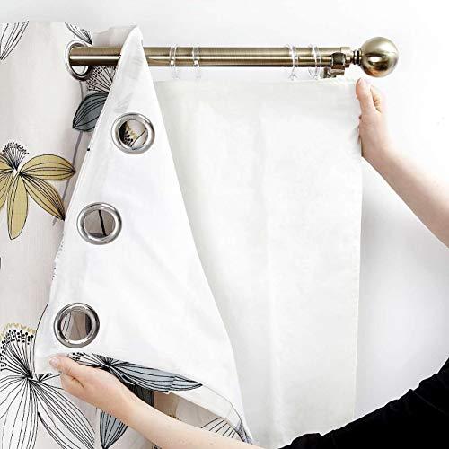 RayyanLinen - Forro térmico opaco para cortinas con ojales, 3 pasos, forro de calidad, poliéster, (Suitable for 46