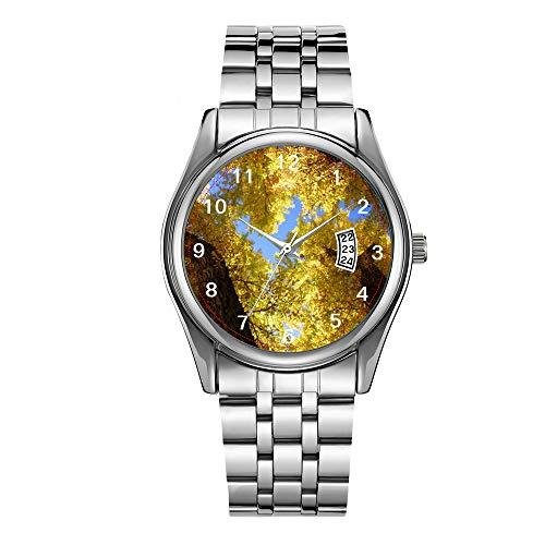 Christmas Luxury Steel Men Watch Fashion Male Date Calendar Clock Sports Watchband Waterproof Man Quartz Wrist Watches Aspen Watch -  AMSKS, Ks1868-020