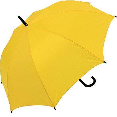 Regenschirm Automatik Stockschirm gelb