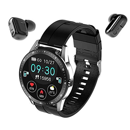 Iswell Smart Watch para teléfonos Android/iOS, Pantalla táctil Completa, Rastreador de Fitness, Smartwatch para Hombres Mujeres Monitor de Ritmo cardíaco, Contador de Pasos