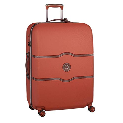 DELSEY(デルセー) スーツケース 機内持ち込み sサイズ おしゃれ キャリーケース かわいい mサイズ/lサイズ 軽量 大容量 シャトレ CHATELET AIR 10年間保証 ストッパー機能なし (112L&テラコッタ)