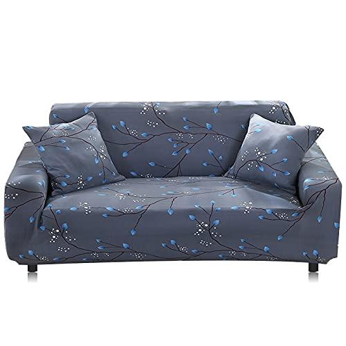 WXQY Funda elástica para sofá Funda para sofá de Sala de Estar Funda para sofá elástica elástica Funda para sillón de Esquina en Forma de L Funda para sofá A14 3 plazas