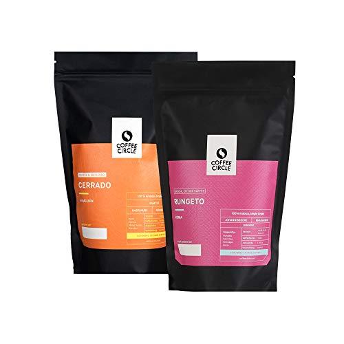 Coffee Circle | Cold Brew Coffee Set - gegensätzlich |2 x 350g ganze Bohne | Premium Bohnenkaffee | 100 % Arabica | fair & direkt gehandelt | frisch & schonend geröstet