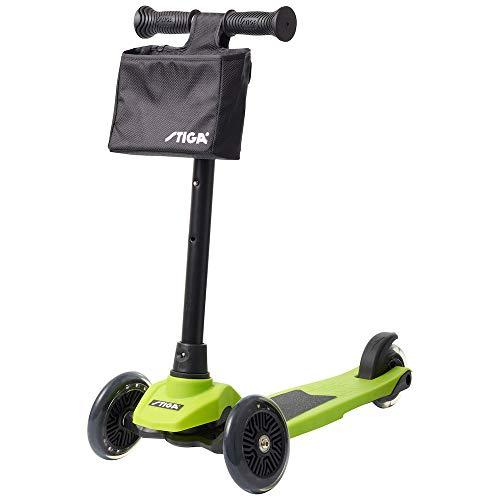 Stiga Unisex-Youth Mini Kick Supreme+ Green Scooter, One Size