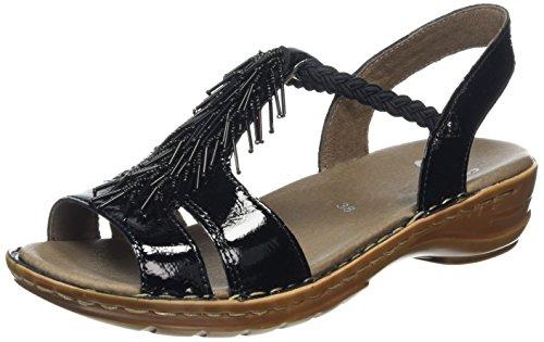 ara Hawaii, Damen T-Spangen Sandalen, Schwarz (schwarz 01), 37 EU (4 UK)