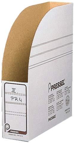 Pressel® Stehsammler, Karton, 7,5 x 26 x 32 cm, weiß (40 Stück), Sie erhalten 1 Packung á 40 Stück