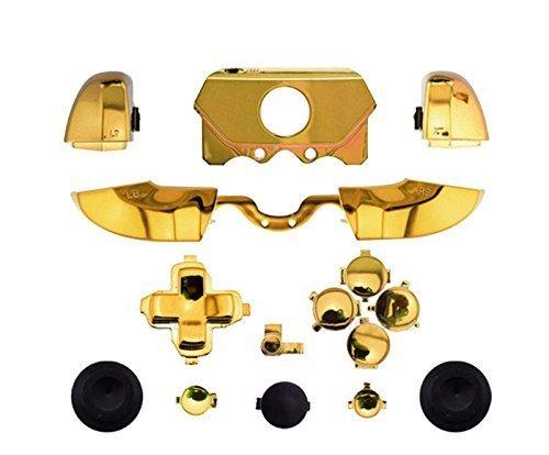 Canamite-LB-RB-LT-RT-Bumper-Auslöser-Knopf-Set-Schutzhülle für Xbox-One-Controller/Joystick mit 3,5-mm-Kopfhörer-Anschluss gold
