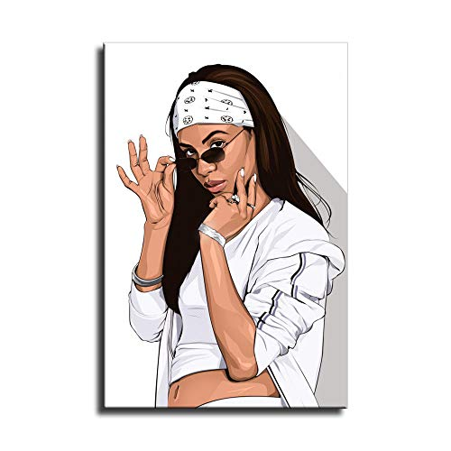 Aaliyah Haughton Poster West Hip Hop East Rapper Stars Kunst Leinwand Poster Home Wall Decor