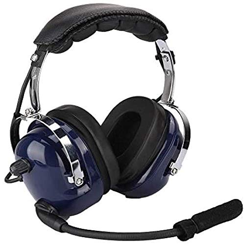 Headset Aviation Pilot Headset, General Aviation Headset, Doppelstecker-Pilotkopfhörer, 3,5-Mm-Headset Zur Geräuschreduzierung Für Piloten