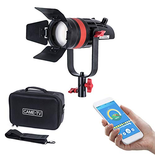 CAME-TV Boltzen 55w High Output Fresnel LED Video Light Compact Size APP Control Focusable with Bag for Photography and Video Shooting, Interview (Bi-Color Q-55S)
