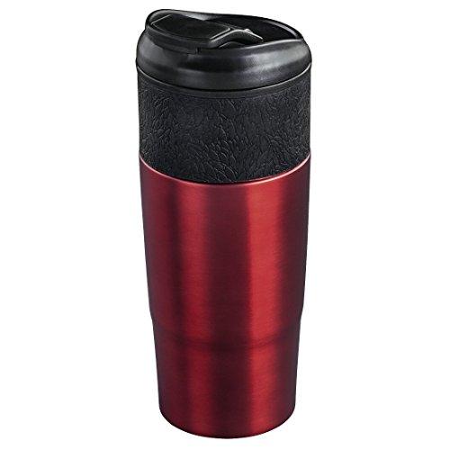 """Xavax Isolierbecher """"Everyday"""", 400ml (für Heiß- und Kaltgetränke, doppelwandig, Schraubverschluss) Coffee-to-go Trinkbecher rot"""