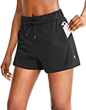 SANTINY Women's Lounge Shorts 2.5'' Comfy Workout Hiking Athletic Running Casual Shorts for Women with Pockets (Black_XL)