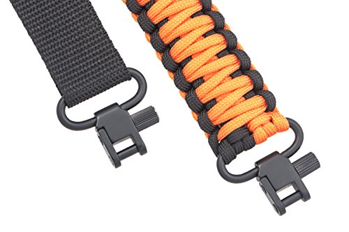 Ace Two Tactical Gun Sling 550 Paracord - Rifle or Shotgun - 2 Point - Extra Strong Multi Use (Blaze Orange)