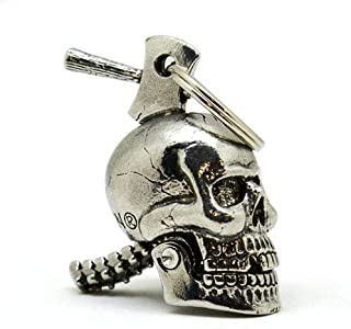 Skull Crusher Large Guardian Bell Motorcycle Ride Protection Bell or Key Ring