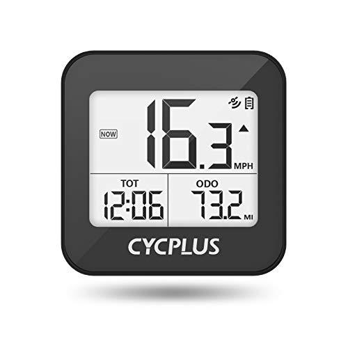 CYCPLUS G1GPS Ciclocomputador inalámbrico,cuentakilómetros para Bicicleta con retroiluminación Impermeable IPX6,velocimetro Bicicleta