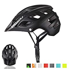 Protection: This mountain bike helmet is US CPSC standards certified. Material of thickened multi-density EPS foam inside helmet absorb impact energy effectively to minimize the risk of harms to head in crash, and extended rear shaped guarantees full...