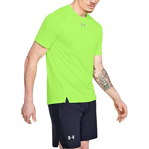 Under Armour - Yoga-T-Shirts für Herren in Grellgrün (Lime Light/Lime Light/Reflective (884)), Größe XL