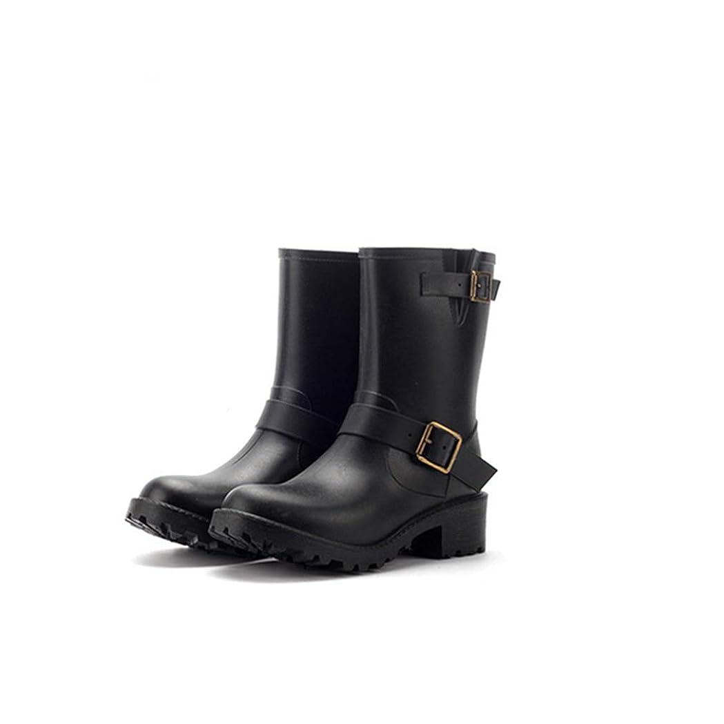 チョークリレー半球[OceanMap] レインブーツ レディース 防水 防滑 美脚 レインシューズ 大きいサイズ 撥水 長靴 レインシューズ ロング スノーブーツ ブラック 黒 ブラウン 茶色 4cmヒール 靴 通勤 通学 ベルト付き 婦人靴 女性用