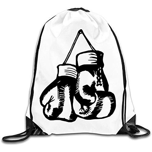 Casual Cinch Pack Boxhandschuhe Turnhalle Kordelzug Taschen Rucksack