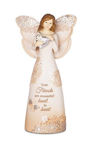 Pavilion Gift Company 19082 True Friends Angel Figurine, 6-Inch