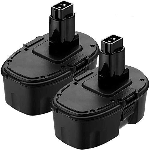 2 Pack DC9096 18 Volt 3.6Ah Replacement Battery Compatible with Dewalt 18V Battery XRP DC9096 DC9099 DC9098 DW9099 DW9096 DW9098 DW9095 DE9039 DE9095 DE9096 DE9098 DC9181