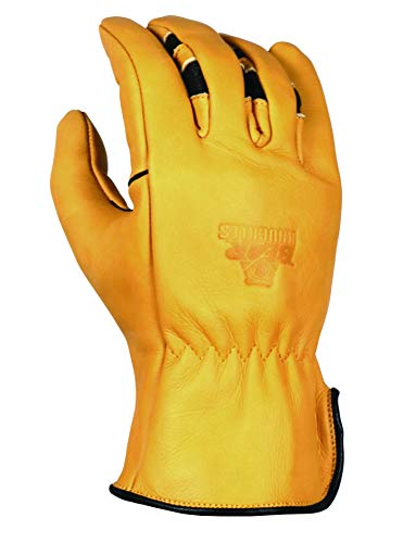 BEAR KNUCKLES Water Resistant Double Wedge-Ultimate Grip-Ergonomic-Anti-fatigue Cowhide Leather Driver Gloves (XXXL)