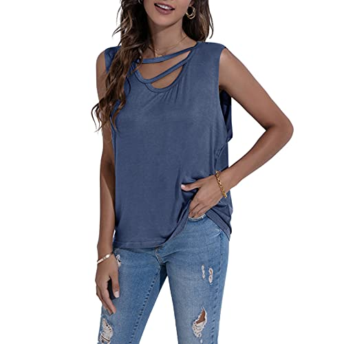 Women's Summer Vest Sleeveless Casual Tank Tops Camisole Loose Fitting Jumper
