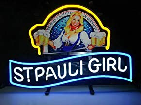 "Queen Sense 14""x10"" St Pauli Girl Neon Sign Light Beer Bar Pub Man Cave Real Glass Lamp DE114"