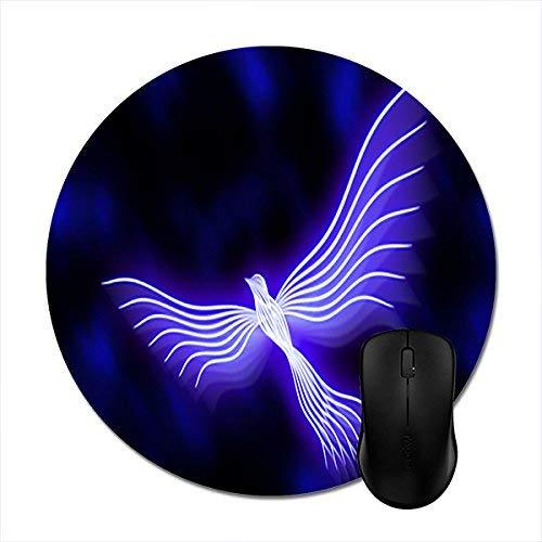 N\A Alfombrillas Redondas Alfombrilla De Ratón Púrpura Phoenix Bird 8in