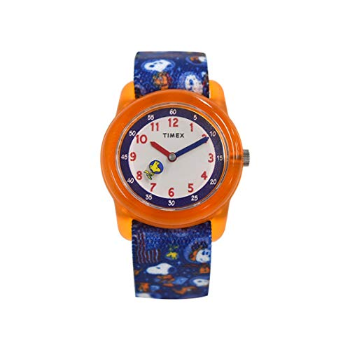 Timex Kid's Space Snoopy Analog 28mm Elastic Fabric Strap Watch - TW7C79100