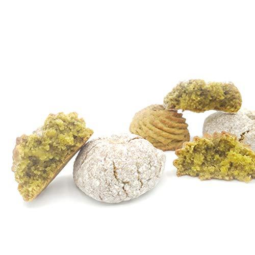 Vegane Feingebäck aus pistazienpaste, handgefertigt in Sizilien von einer alten Konditorei, mit hochwertigen sizilianischen Pistazien (gr.400)