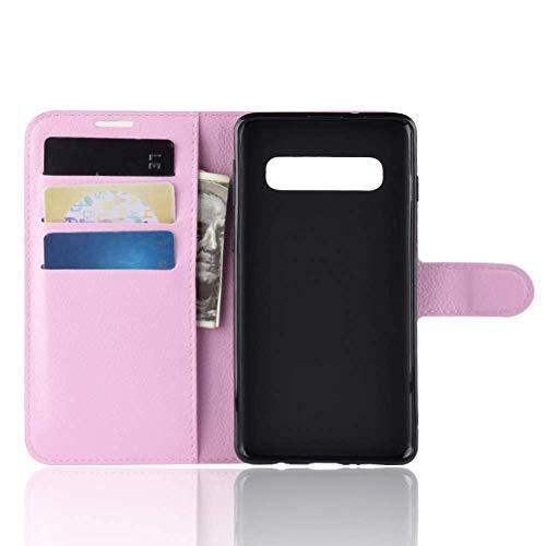 """Capa Capinha Carteira 360 Para Samsung Galaxy S10 Plus Tela 6.4"""" Polegadas Case Couro Sintético Flip Wallet Para Cartão, Abre E Fecha - Danet (Rosa)"""