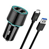 Quick Charge 3.0 [36W/6A] Car Fast Charger Dual USB Port for Samsung Galaxy S7 Edge/S7,S6 Edge/S6 S5 S4,Galaxy J7/J6/J6+/J4/J3 Prime Pro,Note 5 4,LG Q6 ,Motorola Moto G5/G5S PLUS and More