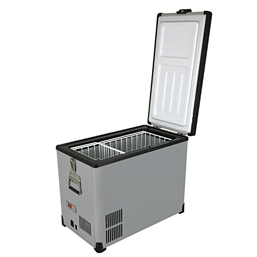 Whynter FM-452SG 45 Quart Slimfit Portable Refrigerator, AC 110V/ DC 12V True Freezer for Car, Home, Camping, RV-8°F to 50°F, One Size, Gray