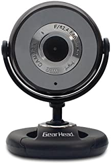 Gear Head USB 2.0 1.3 MP WEBCAM PRO with Snapshot and Microphone (WC740i-CP10),Black