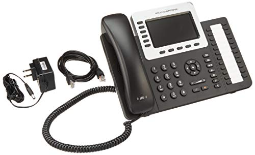 Grandstream GXP2160 6 Line HD VoIP IP Gigabit Phone 24 SideKeys BT PoE Color LCD (Renewed)