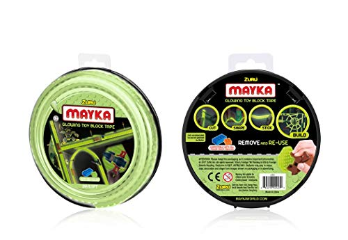 BOTI Mayka-Construction-Tape Medium 2m 2Stud Glow in The Dark