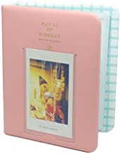 [Fuji Instax Mini Photo Album] -- CAIUL Pieces Of Moment Book Album For Films Of Instax Mini 7s 70 8 25 50s 90/ Pringo 231/ Fujifilm Instax SP-1/ Polaroid PIC-300P/ Polaroid Z2300 (64 Photos, Pink)