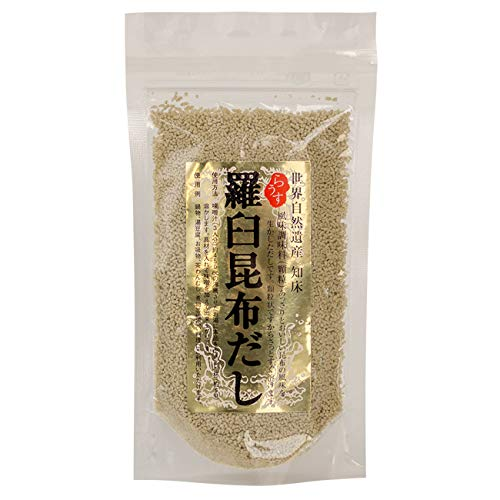 羅臼昆布だし 70g(顆粒タイプ)さっと溶けて使い勝手の良いラウスコンブダシ(北海道産らうすこんぶ使用の顆粒出汁)あっさりとおいしいコンブの風味を生かしたダシ