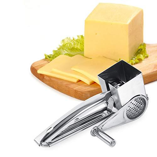 Herramienta para triturar rebanadas, rallador giratorio para manualidades de cocina, rallador de queso giratorio manual para utensilios de cocina para hornear queso