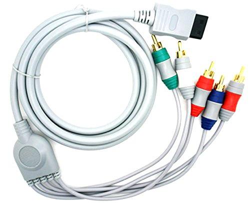 Cable Adaptador de 1 Conexion de Wii a 5 x AV Componentes para WII TV HDTV 2500