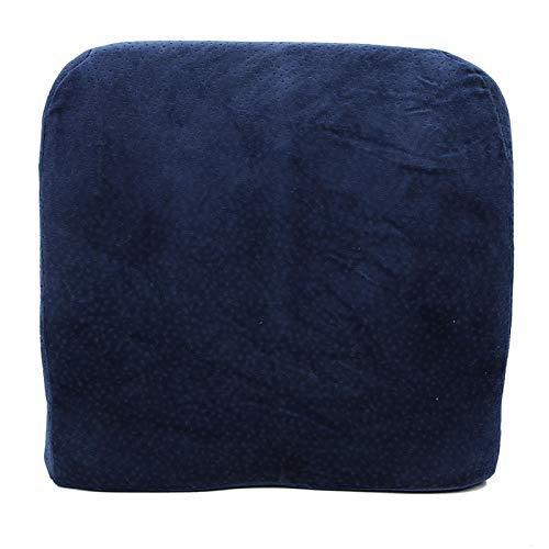 Liyeehao Almohada de Coche, Silla Azul Oscuro, Almohada Relajada, Almohada de Espuma viscoelástica para Coche, Almohada de Apoyo para la Cintura, para Oficina Relajada con la Espalda
