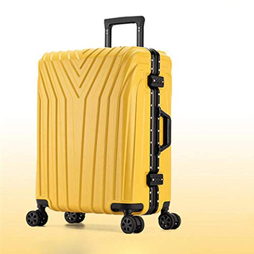 SFBBBO luggage suitcase Rolling Suitcase with Cup holder,Travel Luggage Bag,Universal wheel trip Trolley Case 29' Yellow