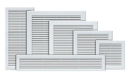Griglia di copertura per bocchetta di aerazione, 200 x 200mm, colore bianco